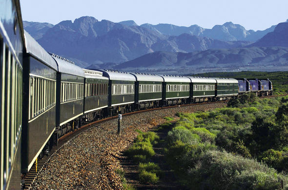 Rail journey from Cape Town to Pretoria.
