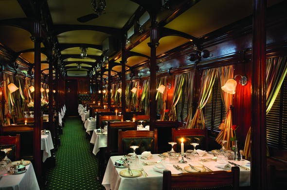 Elegant dining car.