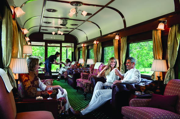 Relax in the Observation Car of Rovos Rail.