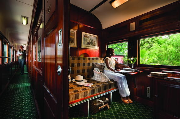 Enjoy quality train accommodation on Rovos Rail.