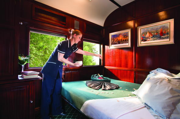 Pullman Suite on Rovos Rail luxury train.