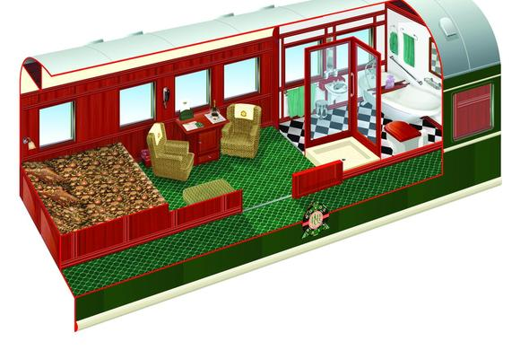The Royal Suite on Rovos Rail.