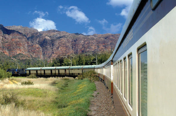 Shongololo Express rail journey in South Africa.
