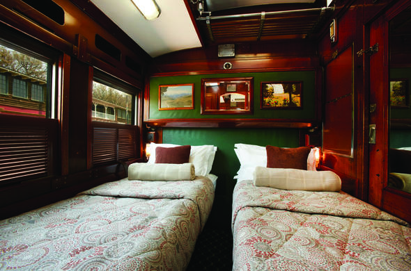 The luxurious Emerald Twin Cabin.